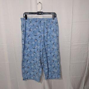 Cozy Disney Blue Eeyore Pajama Pants